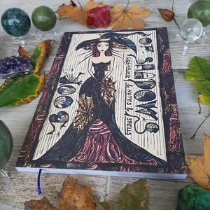 Book Of Shadows - boszorkányos felnőtt színezőkönyv, Művészet, Grafika & Illusztráció, Fotó, grafika, rajz, illusztráció, Festészet, 112 oldal színes oldal. Méret: 21 cm x 30 cm. Boszorkányos színezőkönyv, növényi motívumokkal. A szí..., Meska