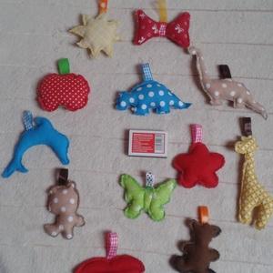 Babajáték, dekoráció vagy kulcstartó, Táska & Tok, Kulcstartó, Kulcstartó & Táskadísz, Pamutvászonból készítettem. Vatelin golyócskákkal töltöttem meg. Babakocsira, babaforgóhoz vagy akár..., Meska