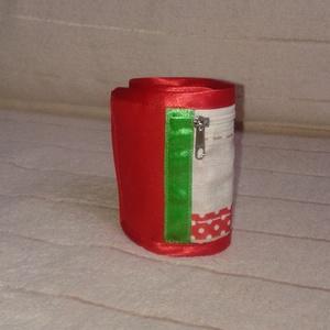Piros betétes csukló pénztárca kerékpárhoz, futáshoz - Ballagásra - táska & tok - pénztárca & más tok - pénztárca - Meska.hu