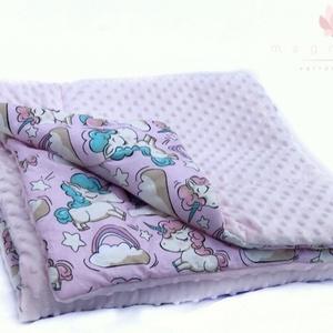 Minky kétoldalas takaró (magnoliavarro) - Meska.hu