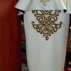 Zsinóros Szépség, Menyasszonyi ruha, Ruha, Esküvő, Varrás, Ezt a dekoratív rendkívül nőies öltözéket 2 részesre terveztem.Ennek és a fűzős megoldásnak köszönhe..., Meska