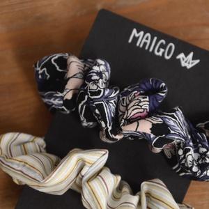 MAIGO hajgumik III., Ruha & Divat, Hajdísz & Hajcsat, Hajgumi, Varrás, Kétdarabos szett csodás mintájú scunchiekból, amik maradék újrahasznosított anyagokból készültek...., Meska