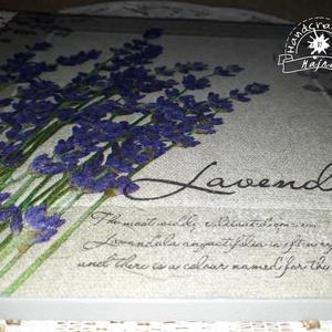 Vintage levendula csokor - falikép (Majna) - Meska.hu