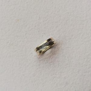Madártoll mintájú vésett gyűrű, Ékszer, Gyűrű, Kerek gyűrű, Ékszerkészítés, Ötvös, Meska