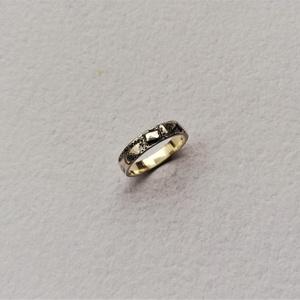 Rusztikus hatású, antikolt gyűrű, Ékszer, Gyűrű, Kerek gyűrű, Ékszerkészítés, Ötvös, Meska