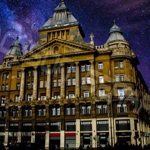 Budapest - Anker fotó, Művészet, Fotográfia, Fotó, grafika, rajz, illusztráció, Nagy felbontású, photoshoppal szerkesztett egyedi fotó az egykori Anker Biztosító épületéről, Budape..., Meska