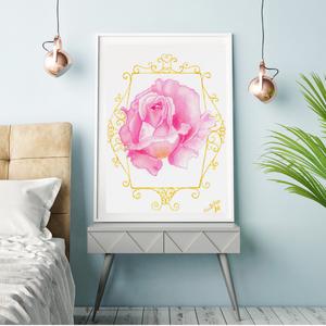 KÖSZÖNET - akvarell print/nyomat, Dekoráció, Otthon & lakás, Képzőművészet, Festmény, Akvarell, Festészet, Kiváló minőségű akvarell nyomat, print, mely többféle méretben is rendelhető (a képeken lévő keretek..., Meska