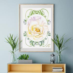ANGYAL - kiváló minőségű akvarell print, nyomat, Otthon & lakás, Képzőművészet, Festmény, Akvarell, Festészet, Kiváló minőségű akvarell nyomat, print, mely többféle méretben is rendelhető (a képeken lévő keretek..., Meska