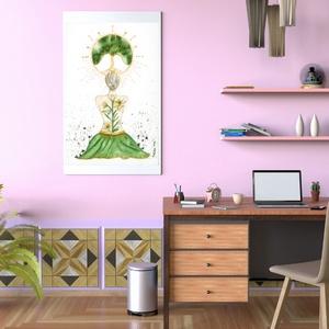 Művészi akvarell nyomat - Női sorozat - A béke imádsága - Meska.hu
