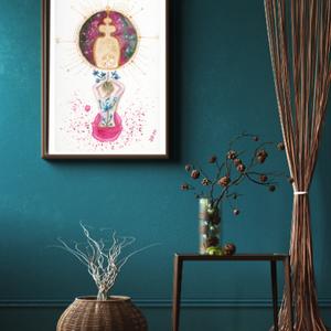 Művészi akvarell nyomat - Női sorozat - Elfogadás, Otthon & lakás, Dekoráció, Kép, Képzőművészet, Festmény, Festészet, Művészi akvarell nyomat, kíváló minőségű akvarell bio papírra készül. Szeretném, ha egy-egy ilyen ké..., Meska