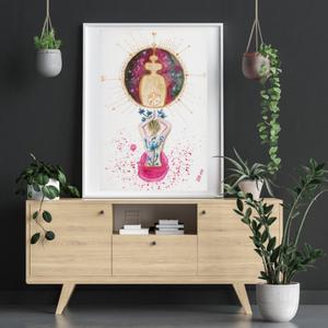 Művészi akvarell nyomat - Női sorozat - Elfogadás - Meska.hu