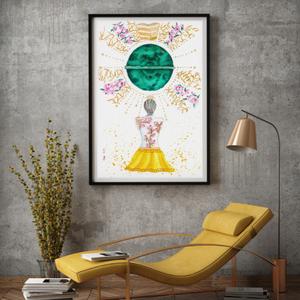 Művészi akvarell nyomat - Női sorozat - Gyógyítás - Meska.hu
