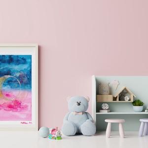 Újhold - akvarell art print, Művészet, Művészi nyomat, Festészet, Szép tárgyak, képek, alkotások emelik az otthonunk, irodánk hangulatát és ezért fontos, hogy mi vesz..., Meska