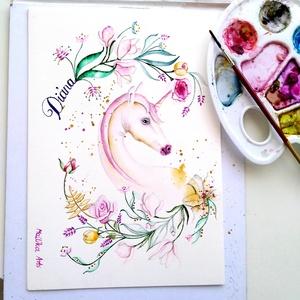 Neves kép gyerekeknek, felnőtteknek, Otthon & Lakás, Betű & Név, Dekoráció, Akvarell festékkel készített neves képek, melyekhez a megrendelő adja az inspirációt, hogy mi az a f..., Meska