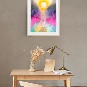 Művészi akvarell nyomat - Mikor eljön a fény - Meska.hu