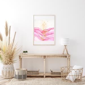 Művészi akvarell nyomat - Rózsszín hullám, Művészet, Művészi nyomat, Művészi akvarell nyomat, artprint, mely kiváló minőségű akvarell kender bio papírra készül giclée te..., Meska
