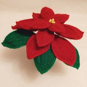 #Vörös horgolt mikulásvirág, Karácsony & Mikulás, Karácsonyi dekoráció, Horgolás, Mindenmás, Horgolt, vörös színű mikulásvirág kaspóba rögzítve.\nMagassága kaspóval együtt kb. 14 - 15 cm.\n\nSzoba..., Meska