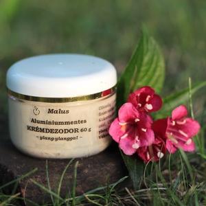 Malus Alumíniummentes krémdezodor 60 g - YLANG-YLANGGAL, Táska, Divat & Szépség, Szépség(ápolás), Kozmetikum, Kozmetikum készítés, A citrom és teafa frissítő illatával jól harmonizál az ylang-ylang virágos illata. Ezt a verziót ink..., Meska