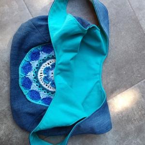 Kifordítható táska horgolt mandalával (hamibatyu) - Meska.hu