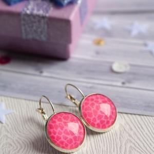 Pink leopard fülbevaló  (malyvacukor) - Meska.hu