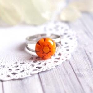 Orange gyűrű (malyvacukor) - Meska.hu