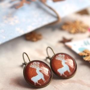 Reindeer 2. fülbevaló (malyvacukor) - Meska.hu