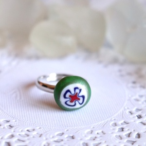 Tündérkert gyűrű (malyvacukor) - Meska.hu