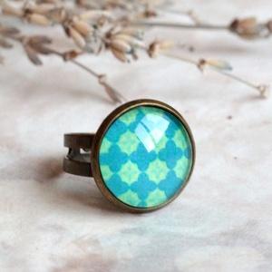 Deep blue gyűrű (malyvacukor) - Meska.hu