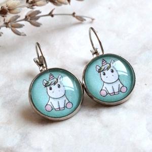 Green Unicorn fülbevaló (malyvacukor) - Meska.hu