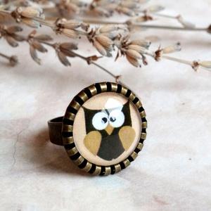 Owl gyűrű (malyvacukor) - Meska.hu