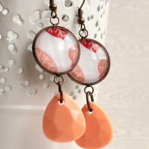 Peachy fülbevaló (malyvacukor) - Meska.hu