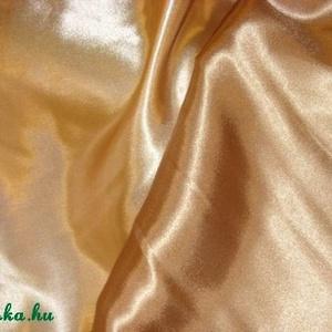 Arany szatén dekor 150 cm 990.-Ft, Textil, Selyem, Varrás, Textil, Mindenmás, Elegáns, kellemes\n\nfinoman fényes\n\ncsodás arany szatén\n\n100% polészter\n\n150 cm széles\n\n990.-ft/méter..., Meska