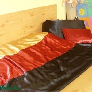 3 db-os szastén ágynemű szett - 3 színű, Lakberendezés, Otthon & lakás, Lakástextil, Dekoráció, Varrás, Mindenmás, Szatén ágynemű szett\n\nBurgundi vörös - arany - fekete\n\n3 db-os standard méret\n\n8.500.-Ft\n\nVálaszható..., Meska