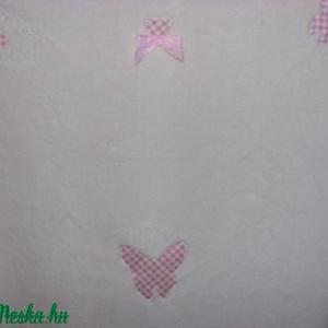 Szépséges lepkés ovis vagy baba takaró - 120 x 82 cm többféle és színben remdelhető - otthon & lakás - lakástextil - ágytakaró - Meska.hu