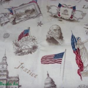 USA vintage-történelem patchwork USA design textil 55 x 30 cm minőségi  USA design , Textil, Pamut, Mindenmás, Varrás, Textil, Kiváló minőségű - egyedi tervezésű - jogvédett termék -\n\nTextil - akár - patchwork - anyag\n\nUSA Desi..., Meska