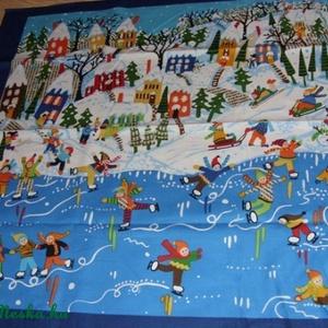 Nyár és Tál évszakok nagy blokk patchwork USA design textil 60 x 55 cm minőségi  USA design , Textil, Pamut, Mindenmás, Varrás, Textil, Kiváló minőségű - egyedi tervezésű - jogvédett termék -\n\nTextil - akár - patchwork - anyag\n\nUSA Desi..., Meska