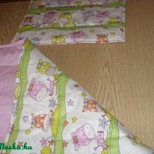 Bébi 1 méretű zsiráfos-pöttyös ágynemű szett duokombó - két féle - otthon & lakás - lakástextil - szett kiságyba - Meska.hu