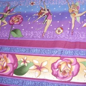 Virágtündérek blokk bordűr USA egyedi Design textil:o)  60 x 28 cm minőségi textil  USA design , Textil, Pamut, Mindenmás, Varrás, Textil, Kiváló minőségű - egyedi tervezésű - jogvédett termék -\n\nTextil - akár - pachwork - anyag\n\nUSA Desig..., Meska