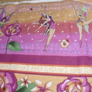 Virágtündérek blokk bordűr USA egyedi Design textil:o)  60 x 28 cm minőségi textil  USA design  - Meska.hu