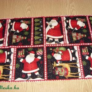 8 télapós blokkos karácsonyi USA design minőségi textil:  50 x 30 cm , Textil, Pamut, Mindenmás, Varrás, Textil, Kiváló minőségű - egyedi tervezésű - jogvédett termék -\n\nTextil - akár - patchwork - anyag\n\nUSA Desi..., Meska