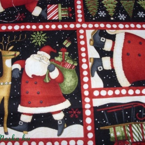 8 télapós blokkos karácsonyi USA design minőségi textil:  50 x 30 cm  (MamaMariko) - Meska.hu