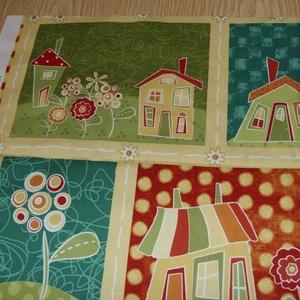 4 db-os házikós blokk több féle minőségi USA egyedi Design textil:o)  32 x 131 cm , Textil, Pamut, Mindenmás, Varrás, Textil, Kiváló minőségű - egyedi tervezésű - jogvédett termék -\n\nTextil - akár - patchwork - anyag\n\nUSA Desi..., Meska
