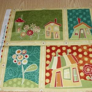 4 db-os házikós blokk több féle minőségi USA egyedi Design textil:o)  32 x 131 cm  (MamaMariko) - Meska.hu