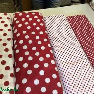 PÖTTYÖS MÁNIA Fehér alapon piros pöttyös 140 cm széles 1.500.-Ft.-, Textil, Pamut, Mindenmás, Varrás, Textil, Kellemes viselet\n\nvariálható - kombinálható \n\n100% pamut  és piros alapon fehér pöttyös\n\nfehér alapo..., Meska