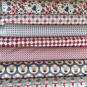 Karácsonyi apró mintás sok féle német design textil 70 x 30 cm, Textil, Pamut, Mindenmás, Varrás, Textil, Kiváló minőségű - egyedi tervezésű - jogvédett termék -\n\nTextil - akár - patchwork - anyag\n\nNémet De..., Meska