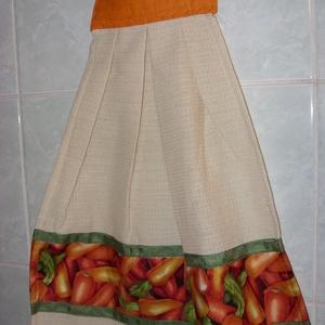 Különleges kombó törlő sárgarépa mintás USA design textil díszítéssel, Otthon & Lakás, Konyharuha & Törlőkendő, Konyhafelszerelés, Varrás, Meska
