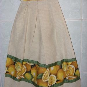 Különleges kombó törlő citromos USA design textil díszítéssel 3 színben - Meska.hu