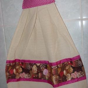 Különleges kombó törlő bon-bon design textil díszítéssel 3 színben - Meska.hu