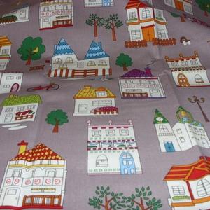 Házikók - jössz Te még az én utcámba :o))) 4 féle  55 x 30 cm minőségi textil  USA design , Textil, Pamut, Mindenmás, Varrás, Textil, Kiváló minőségű - egyedi tervezésű - jogvédett termék -\n\nTextil - akár - patchwork - anyag\n\nUSA Desi..., Meska