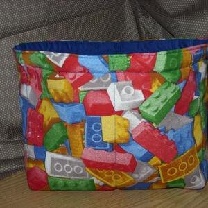 LEGO mintás pelenka, pipere, zokni, játék, apróság tároló  - Meska.hu